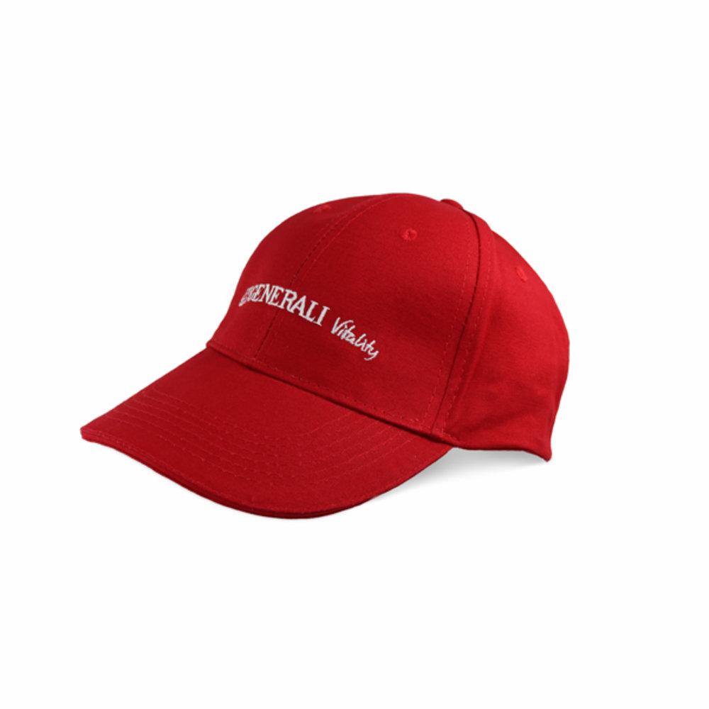 Baseballkappe rot Generali Vitality einzeilig