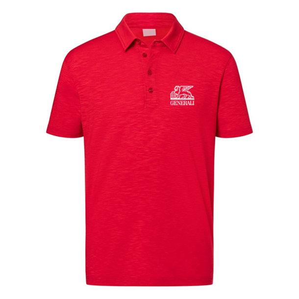 Herren Polo-Shirt Generali rot