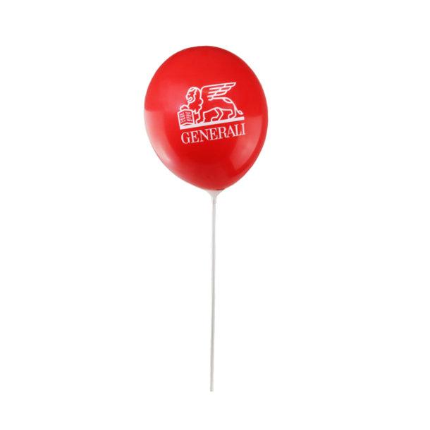 Luftballon Set rot mit Haltestäben