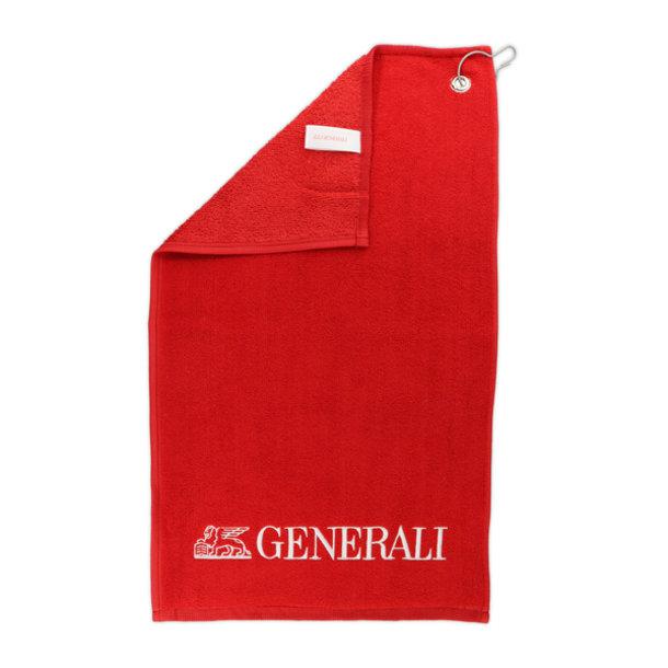 Golfhandtuch rot Generali